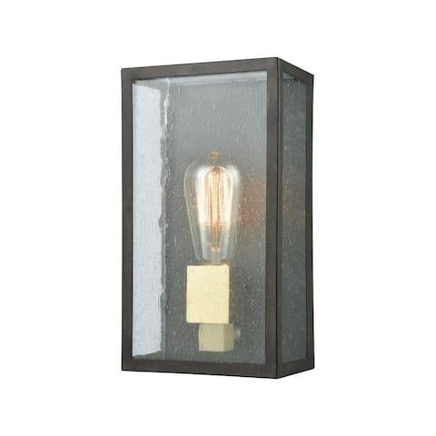Contemporary One Light Outdoor Rectangular Wall Lantern - Mid-Century Modern Porch Light