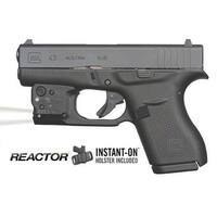 Viridian Reactor Tl Tactical Light For Glock 43 Featuring Ecr And Radiance Includes Hybrid Belt Hols