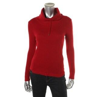 Lauren Ralph Lauren Womens Knit Cowl-Neck Pullover Sweater - L