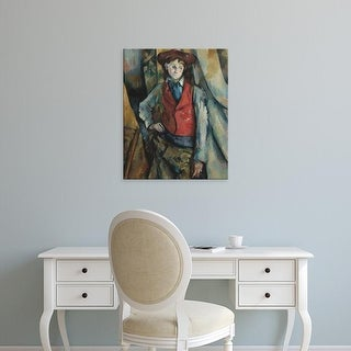 Easy Art Prints Paul Cezanne's 'Boy in a Red Waistcoat' Premium Canvas Art