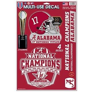 Alabama Crimson Tide 2017-18 National Champions 11 x 17 Multi Use Decal Sheet