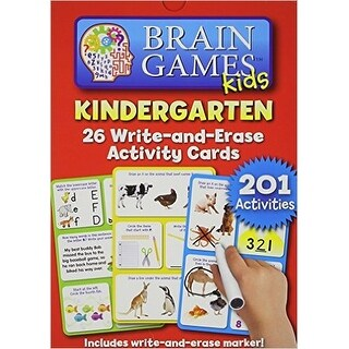 Brain Games Kids K Write-and-Erase Activity Cards