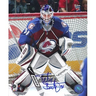 Peter Budaj Autographed Colorado Avalanche Action 8x10 Photo