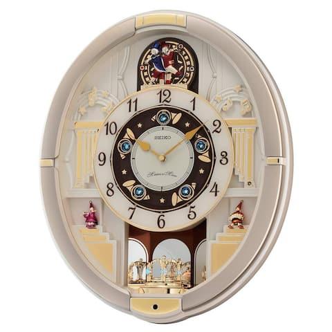Seiko QXM290SRH 12 Hi-Fi Melodies in Motion Chiming Wall Clock