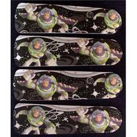 Buzz Lightyear Custom Designer 42in Ceiling Fan Blades Set - Multi