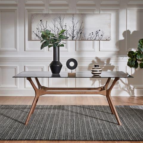 Nadine Mid-Century Walnut Finish Rectangular Dining Table by iNSPIRE Q Modern