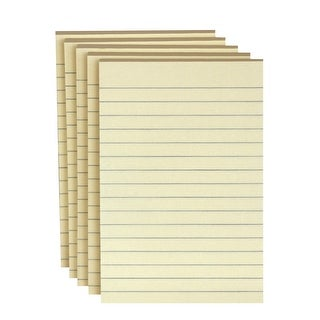 School Smart Lined Self-Stick Adhesive Note, 4 X 6 in, Yellow, 100 Sheets/Pad, Pack of 5