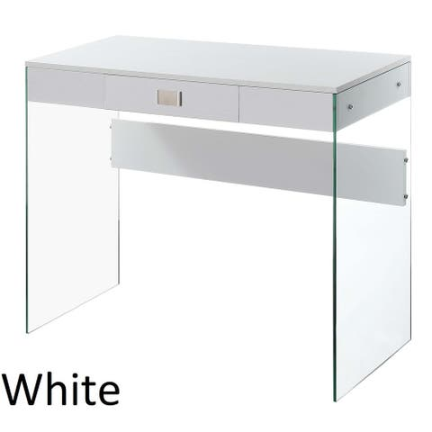 "Porch & Den Urqhuart Glass/ Wood 36"" Desk"
