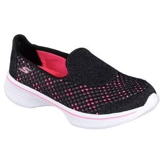 Skechers 81118L BKHP Girl's GOWALK 4-KINDLE Walking