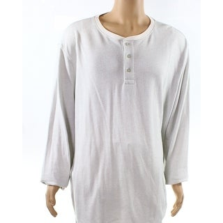 Club Room NEW Winter White Ivory Mens Size 2XLT Button Henley Shirt