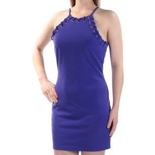 TRIXXI Womens New 1402 Blue Eyelet Sleeveless Body Con Dress 7 Juniors B+B