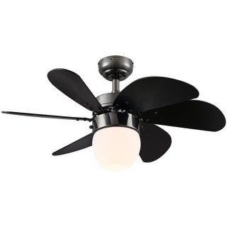 Westinghouse 7209200 Turbo Swirl LED Single Light 6 Blade LED Hanging Ceiling Fan with Reversible Motor, Blades, Light Kit and