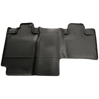 Husky Classic 2006-2008 Lincoln Mark LT 2nd Row Black Rear Floor Mats/Liners