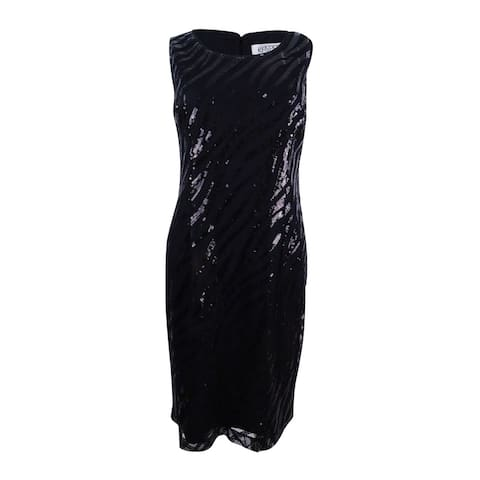 Kasper Women's Sequined Mesh Sheath Dress