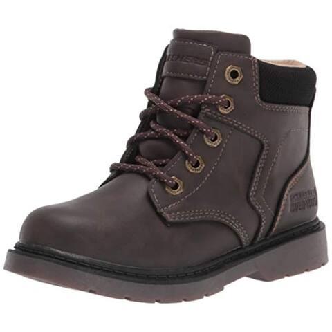 Skechers boys Fashion Boot, Chocolate