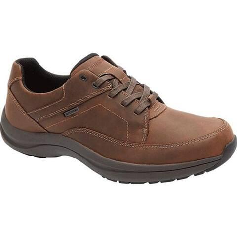 Dunham Men's Stephen-DUN Waterproof Oxford Brown Leather