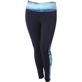The Balance Collection Womens Plus Skyward Athletic Leggings Quick Dry Printed