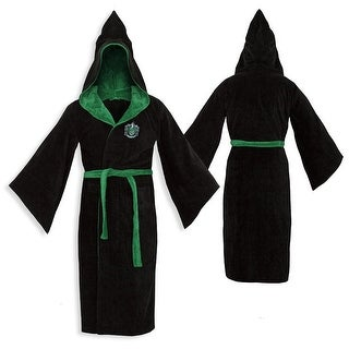 Harry Potter Slytherin Adult Cotton Hooded Bathrobe