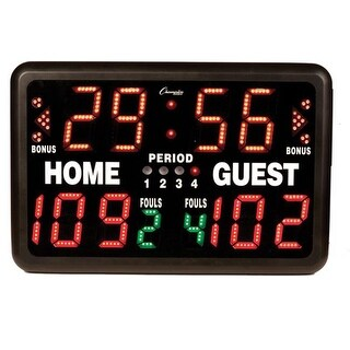 Multi-Sport Tabletop Indoor Electronic Scoreboard & Remote,