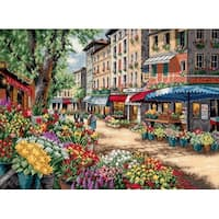 """Gold Collection Paris Market Counted Cross Stitch Kit-15""""X11"""" 18 Count"""
