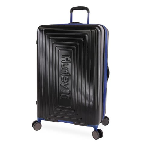 Hurley Suki 29-inch Check in Hardside Spinner Suitcase - Black/Blue
