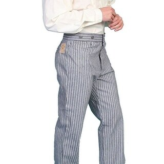 Scully Western Pants Mens Old West Stripe Button Fly Cotton
