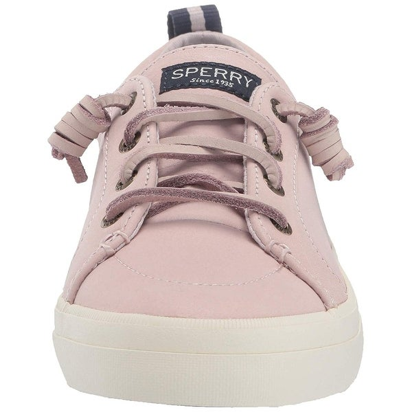 sperry leather sneakers womens