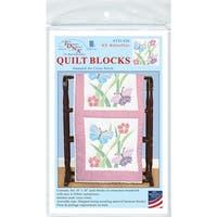 """Stamped White Quilt Blocks 18""""X18"""" 6/Pkg-XX Butterflies"""