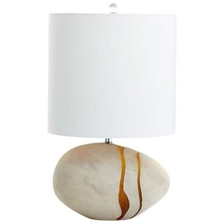 Cyan Design Small Tiber Table Lamp Tiber 2 Light Accent Table Lamp with White Shade - Amber