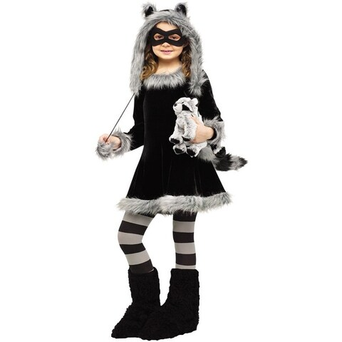 Fun World Sweet Raccoon Child Costume - Black/Grey