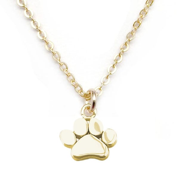 "Julieta Jewelry Paw Gold Charm 16"" Necklace"