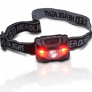 ODOLAND 3W LED Camping Running Headlamp Waterproof Headlight Battery Powered 4 Light Modes