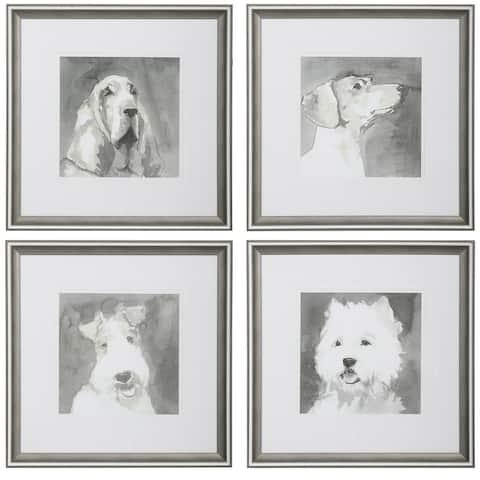 Uttermost Modern Dogs Framed Prints (Set of 4)