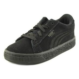 Puma Suede Classic Badge Toddler Round Toe Suede Black Sneakers
