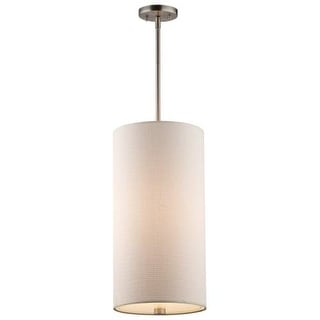 Forecast Lighting F5208 A La Carte White Grass Cloth Shade with Etched White Glass Diffuser from the Taylor Collection