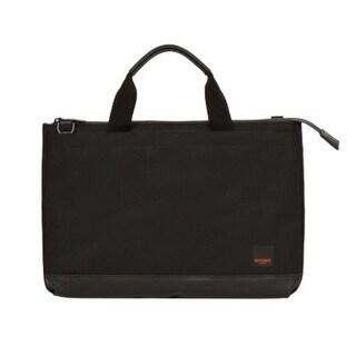 Knomo London Shoreditch Top Zip 12-Inch. Tablet/Laptop Slim Brief Case - Black