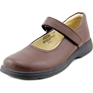 School Issue Prodigy Youth Round Toe Leather Brown Mary Janes
