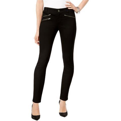 I-N-C Womens Casual Skinny Fit Jeans, Black, 10