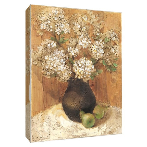 """PTM Images 9-154652 PTM Canvas Collection 10"""" x 8"""" - """"Hydrangea with Pears"""" Giclee Hydrangeas Art Print on Canvas"""
