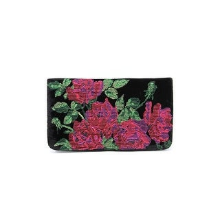 Shiraleah Julia Women Canvas Clutch NWT - Black