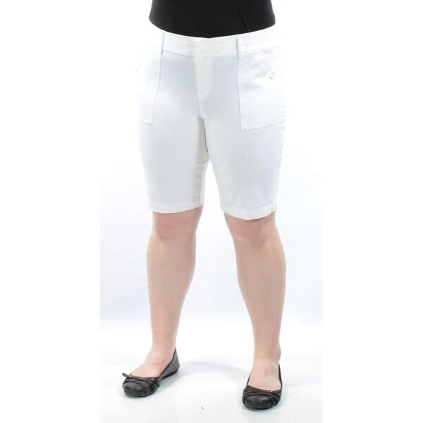 INC Womens White Bermuda Short Size: 10
