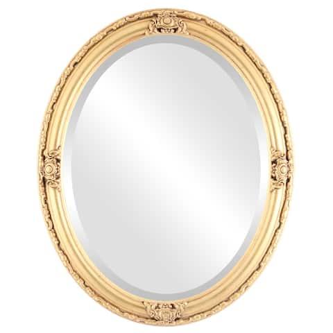 Jefferson Framed Oval Mirror in Antique Gold Leaf
