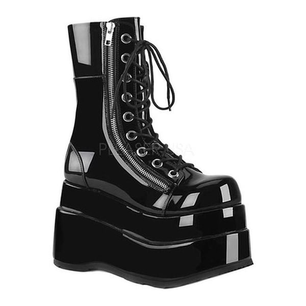 b9109104339 Shop Demonia Women s Bear 265 Mid-Calf Platform Boot Black Patent - Free  Shipping Today - Overstock - 25577894