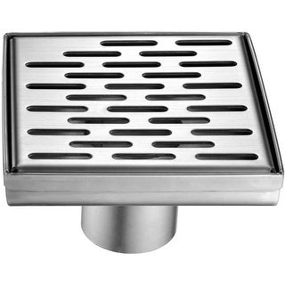 "ALFI brand ABSD55C 5"" x 5"" Square Pattern Grate Shower Drain with 2"" Outlet"