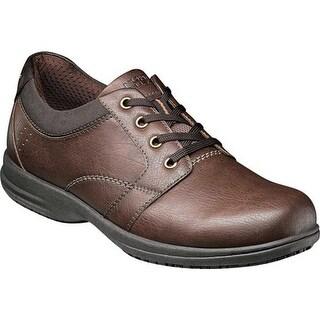 Nunn Bush Men's Shawn Plain Toe Oxford Brown Synthetic