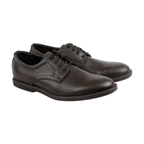 Calvin Klein Frasier Smooth Mens Brown Leather Casual Dress Oxfords Shoes