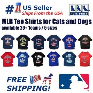 MLB Tee Shirt for Dogs & Cats. Officially Licensed Baseball Teams