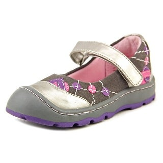 Jumping Jacks Heather Toddler Round Toe Leather Gray Mary Janes