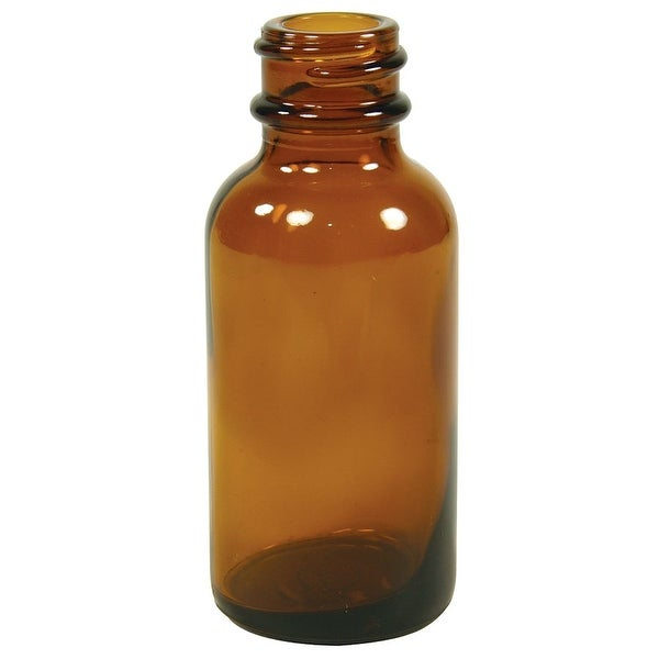 1 oz. Amber Boston Round Bottle 6 Count