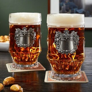 Strasbourg Glass Steins with Personalized Crests